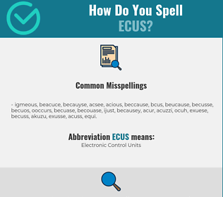 Correct spelling for ECUS