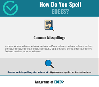 Correct spelling for EDEES