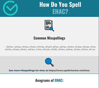 Correct spelling for EHAC