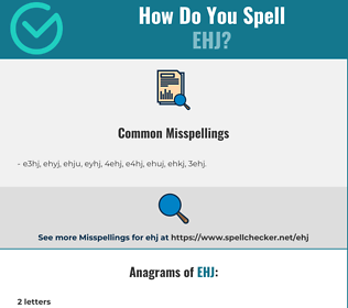 Correct spelling for EHJ