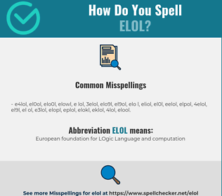 Correct spelling for ELOL