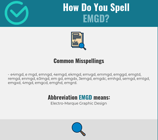 Correct spelling for EMGD