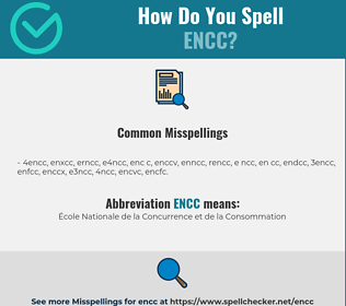 Correct spelling for ENCC