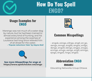 Correct spelling for ENGO