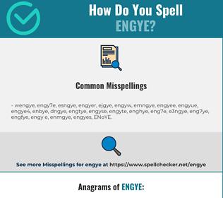 Correct spelling for ENGYE