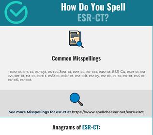 Correct spelling for ESR-CT