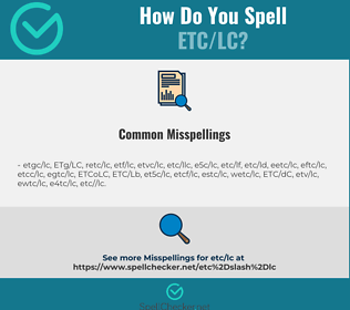 Correct spelling for ETC/LC