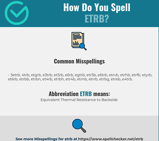 Correct spelling for ETRB