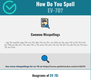 Correct spelling for EV-70