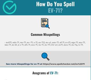Correct spelling for EV-71