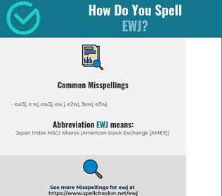 Correct spelling for EWJ
