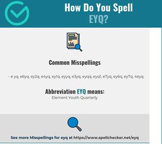 Correct spelling for EYQ