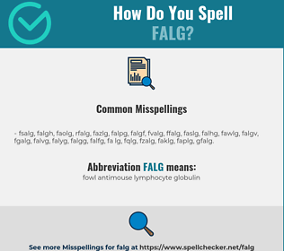 Correct spelling for FALG