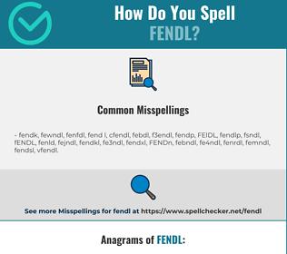 Correct spelling for FENDL