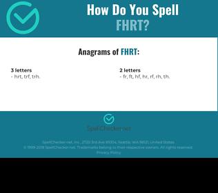 Correct spelling for FHRT