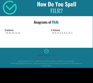 Correct spelling for FILR