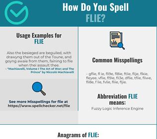 Correct spelling for FLIE