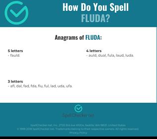 Correct spelling for FLUDA