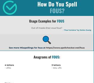 Correct spelling for FOUS