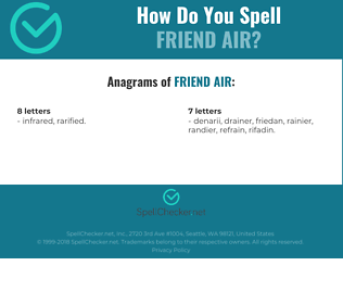 Correct spelling for FRIEND AIR