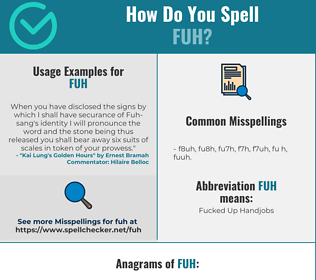 Correct spelling for FUH