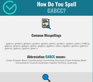 Correct spelling for GABCC