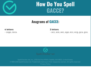 Correct spelling for GACCE