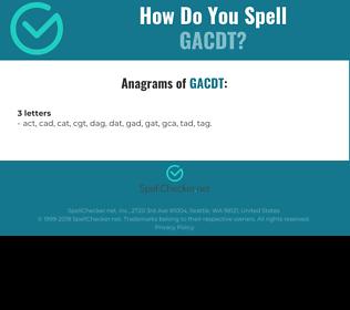 Correct spelling for GACDT