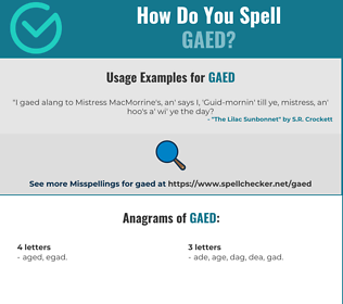 Correct spelling for GAED