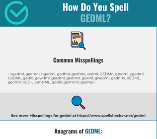 Correct spelling for GEDML