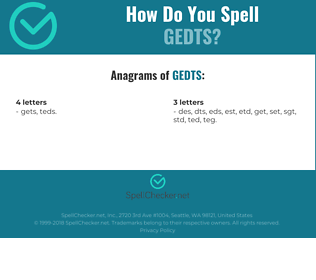 Correct spelling for GEDTS