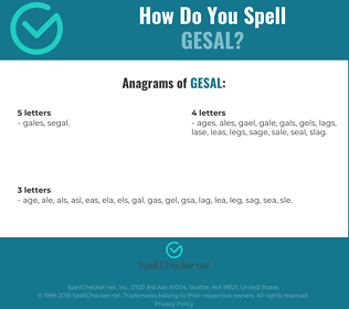 Correct spelling for GESAL