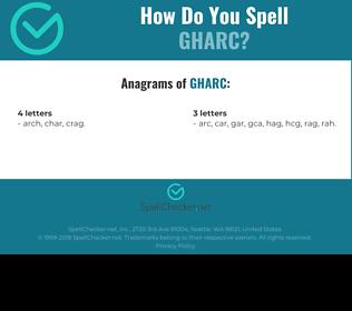 Correct spelling for GHARC