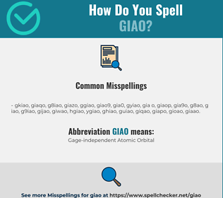 Correct spelling for GIAO