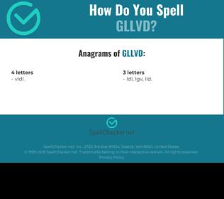 Correct spelling for GLLVD
