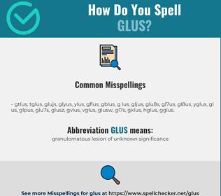 Correct spelling for GLUS