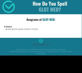 Correct spelling for GLUT MED