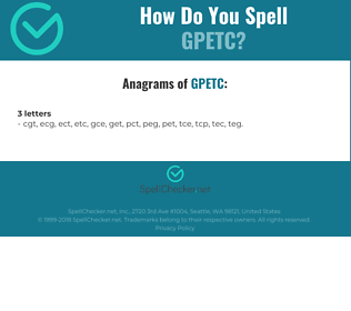Correct spelling for GPETC