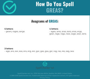 Correct spelling for GREAS