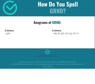 Correct spelling for GRND