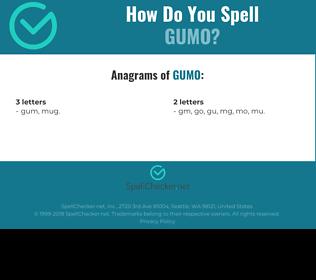 Correct spelling for GUMO