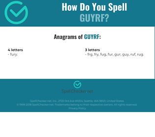 Correct spelling for GUYRF