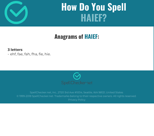 Correct spelling for HAIEF