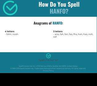 Correct spelling for HANFO