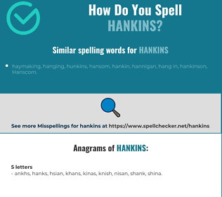 Correct spelling for HANKINS