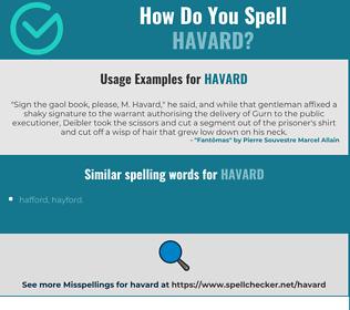 Correct spelling for HAVARD