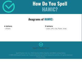 Correct spelling for HAWIC