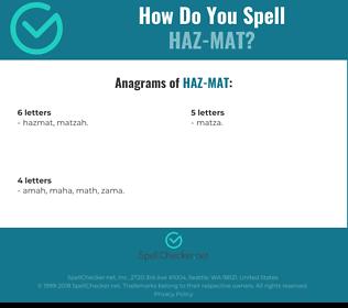 Correct spelling for HAZ-MAT