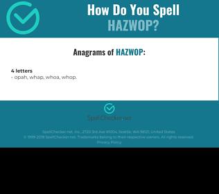 Correct spelling for HAZWOP