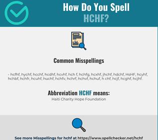 Correct spelling for HCHF